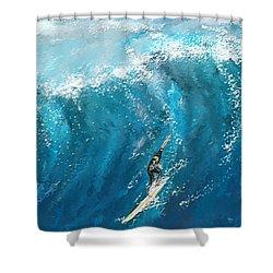 Surf's Up- Surfing Art Shower Curtain