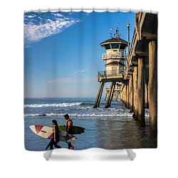 Surf's Up Shower Curtain by Tammy Espino
