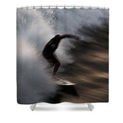 Surge Shower Curtain by John Daly
