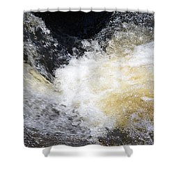 Shower Curtain featuring the photograph Surging Waters by Tara Potts