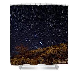 Surprise Trailhead Startrails Shower Curtain by Benjamin Reed