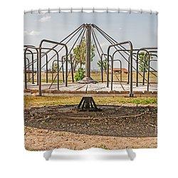 Surprise Under The Merry-go-round Shower Curtain