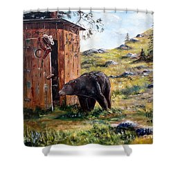 Surprise Visit Shower Curtain
