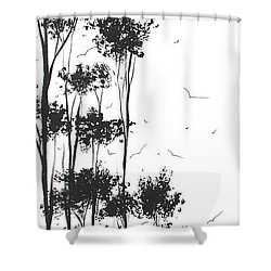 Surreal Abstract Landscape Art Painting By Madart Shower Curtain by Megan Duncanson