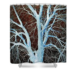 Surreal Blue Tree Shower Curtain