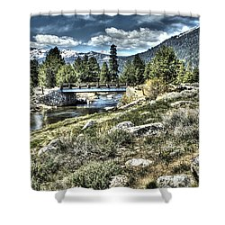 surreal Hope Valley Shower Curtain