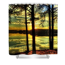 Surreal Lake Shower Curtain