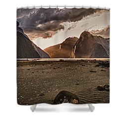 Surreal Milford Shower Curtain
