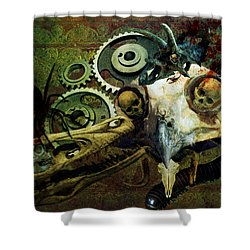 Shower Curtain featuring the painting Surreal Nightmare by Ally  White