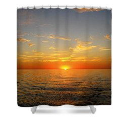 Surreal Sunrise At Sea Shower Curtain by Anne Mott