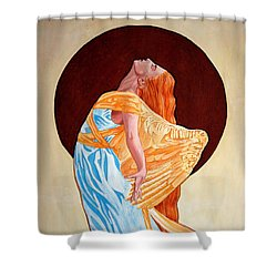 Shower Curtain featuring the painting Surrender by Leena Pekkalainen