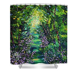 Shower Curtain featuring the painting Surrender by Meaghan Troup