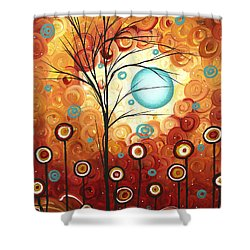 Surrounded By Love By Madart Shower Curtain by Megan Duncanson