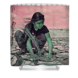 Surviving The Fallout Shower Curtain by Absinthe Art By Michelle LeAnn Scott