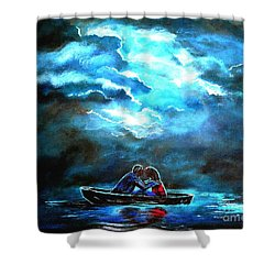 Surviving The Storm Shower Curtain by Leslie Allen
