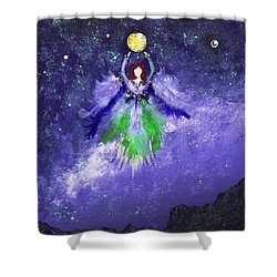 Shower Curtain featuring the painting Survivor by Alys Caviness-Gober
