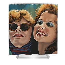 Susan Sarandon And Geena Davies Alias Thelma And Louise Shower Curtain