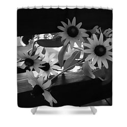 Susans In Black And White Shower Curtain