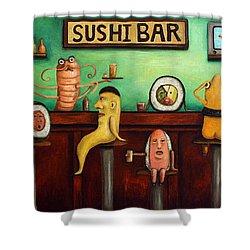 Sushi Bar Improved Image Shower Curtain