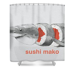 Sushi Mako Shower Curtain