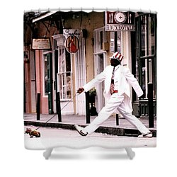 New Orleans Suspended Animation Of A Mime Shower Curtain