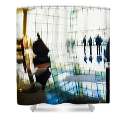 Shower Curtain featuring the photograph Suspended In Light by Alex Lapidus