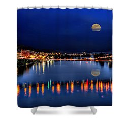 Suspension Bridge Wheeling Wv Panoramic Shower Curtain