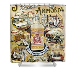 Shower Curtain featuring the photograph Sutton's Compound Cream Of Ammonia Vintage Ad by Gianfranco Weiss