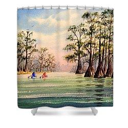 Suwannee River Shower Curtain by Bill Holkham