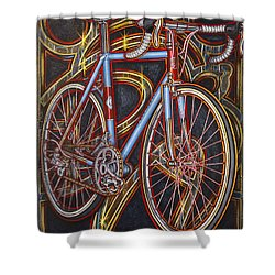 Swallow Bespoke Bicycle Shower Curtain by Mark Jones