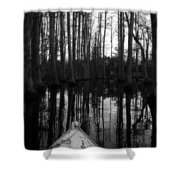 Swamp Boat Shower Curtain