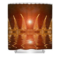 Swamp King Shower Curtain by WB Johnston