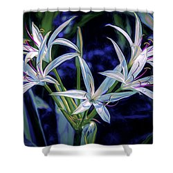Shower Curtain featuring the photograph Swamp Lilies by Steven Sparks