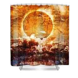 Swamp Moon Shower Curtain by PainterArtist FIN