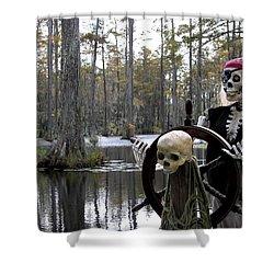 Swamp Pirate Shower Curtain by Karen Wiles