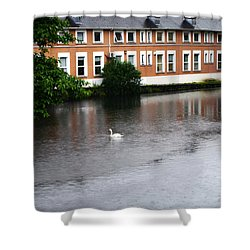 Swan In Dublin Shower Curtain
