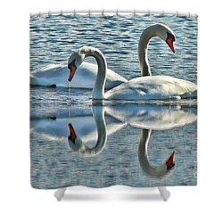 Swan Love Shower Curtain