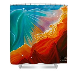 Swan Nebula Shower Curtain by Barbara McMahon