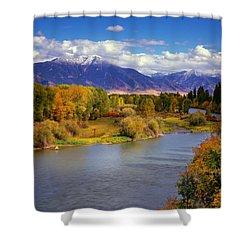 Swan Valley Autumn Shower Curtain by Leland D Howard