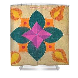 Swarna Jyot Shower Curtain by Sonali Gangane