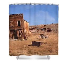 Swazey Hotel Bodie Ghost Town Shower Curtain