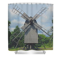 Swedish Old Mill Shower Curtain by Sergey Lukashin