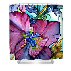 Sweet And Wild In Turquoise And Pink Shower Curtain by Lil Taylor