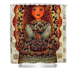 Sweet Angel Shower Curtain by Natalie Holland