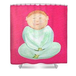 Sweet Buddha Shower Curtain