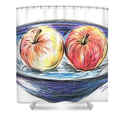 Sweet Crunchy Apples Shower Curtain