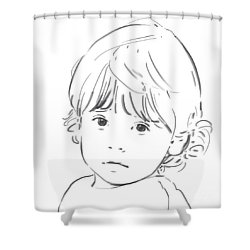 Sweet Girl Shower Curtain