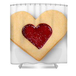 Sweet Heart - Symbol For Love Valentine Relationship Shower Curtain by Matthias Hauser
