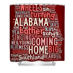 Sweet Home Alabama 4 Shower Curtain
