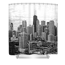 Sweet Home Chicago Bw Shower Curtain